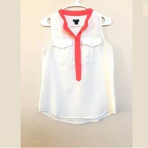 J. Crew white blouse size 0